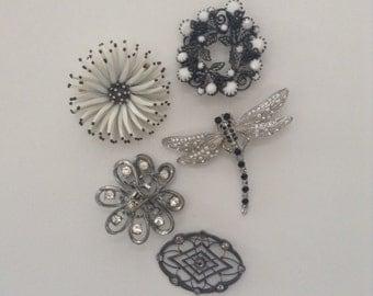 Vintage 50s 60s broach collection ~ mod ~ retro ~ pins ~ rockabilly