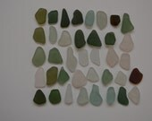 38 pieces of smooth beach sea glass sgl9