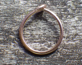 14k rose gold nose ring