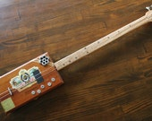 Cigar Box Style Bass Guitar, 2 String