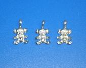 Lot of 3 Sterling Silver Koala Bear Petite Pendants Charms