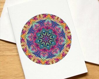 Marbled Paper Mandala Design Notebook no. 1