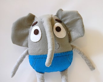 Lee The Adventurous Elephant Plush / Eco Friendly Stuffed Toy
