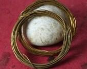 Hand antique solid brass wire 18g, 10 ft (item ID HMW18B)