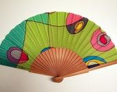Hand fan Handpainted Silk-Abanico-Wedding gift-Giveaways-Bridesmaids-Spanish hand fan-Handpainted fan-Gifts for her