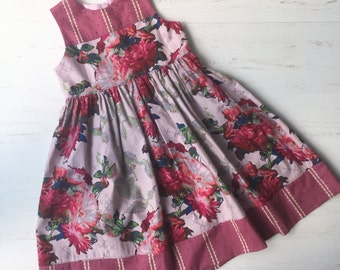 mod corsage dress, sizes 4T and 5 only