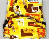 AI2 Cloth Diaper Made to Order - Custom All in Two Diaper - Wild Ones - You Pick Size and Style - Custom Cloth Nappy Zoo Animals