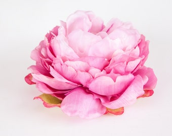 Peony Bombshell in Two Tone Pink - 7 inches - Silk Flowers, Artificial Flowers - ITEM 0202