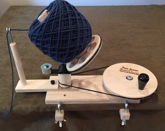 Unfinished Maple Jumbo Yarn Ball Winder (for use with yarn swift)