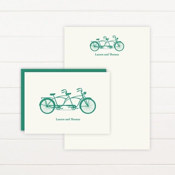 TANDEM Personalized Stationery + Notepad Set - Personalized Notepad and Personalized Stationary
