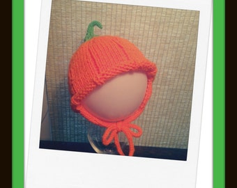 Pattern - Pumpkin Hat with Earflaps Pattern Instant Download