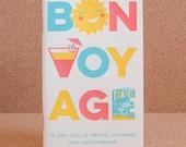 Bon Voyage 10 Day Fill-in Travel Journal + Sketchbook // 2007
