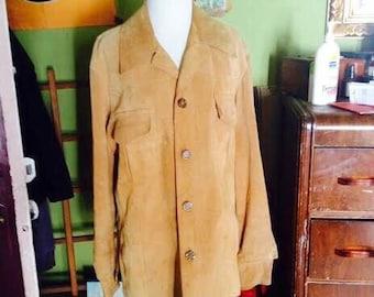 SALE......Vintage 1970's leather/suede style boho hipster jacket. size M/L