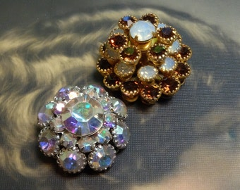 Vintage Buttons Crystal Swarovski Two