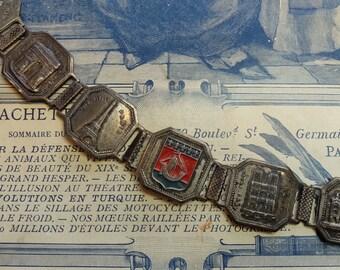 Vintage Souvenir Bracelet Paris Link Landmarks