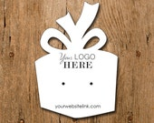Present Gift Shape | Custom Earring Display Cards with Your Logo | DS101