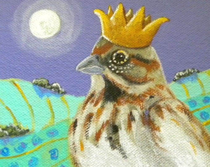 Sparrow Prince blank greeting card