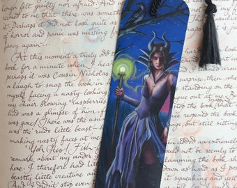 Maleficent Bookmark Art Bookmark Fairy Tale Bookmark Fantasy Art Gothic Art