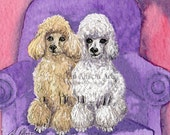 Poodle dog 8x10 art print - listing just for Belle