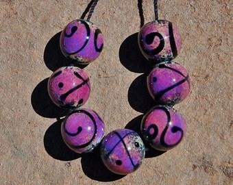 Adriana Sauceda Set of 7 Beads - DESTASH of koregons artist bead collection