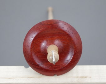 Midi top whorl drop spindle in Paduak