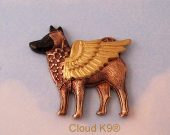 Akita Angel Pin Brooch. Akita Jewelry Gift for Her. Winged Akita Guardian Angel Gifts. Akita Pet Loss Sympathy Memorial Remembrance Cloud K9