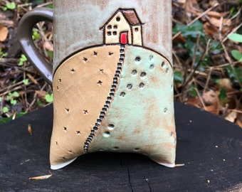 House on the Hill Tripod Mug