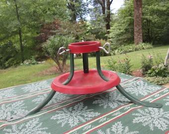 Vintage Christmas Tree Stand - Small Metal Christmas Tree Stand