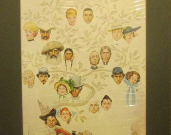 Vintage Norman Rockwell Illustration - A Family Tree