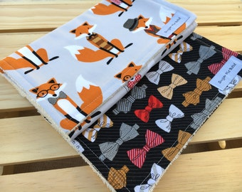 Baby Shower Gift - Burp Cloths / Baby Gifts / Baby Gifts for Boys / Baby Gifts with Fox
