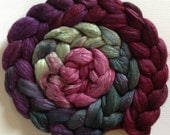 Vine Hand Dyed roving 3.5ozs polwarth mulberry silk 70/30 made to order