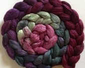 Vine Hand Dyed roving polwarth mulberry silk 70/30 made to order Choose your weight