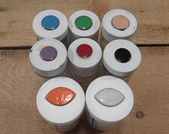 Copper enamel powder 8 colors total 8 oz