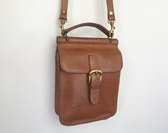 Jessie - Vintage Leather Buckle Front Satchel by G.H. BASS & Co.