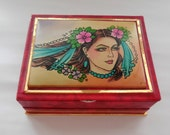 Vintage Hand Painted Gypsy Trinket Box