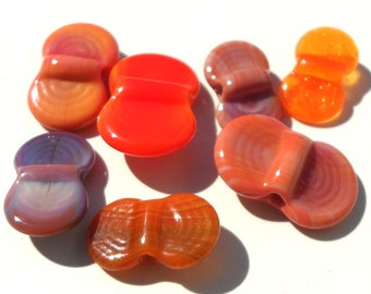 Wing Dings Mix Number 6-  handmade lampwork glass winged beads