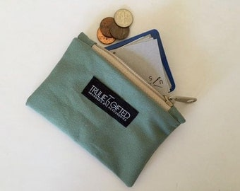 Coin Purse and Zipper Pouch in Turquoise