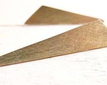 geometric earrings, sterling silver, minimalist jewelry, stud earrings, minimal earrings, golden triangle, golden geometric, long earrings