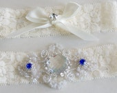 Bridal Garter Set, Wedding Garters, Something Blue, Bride Garters, Bridal Garters, Wedding Clothing