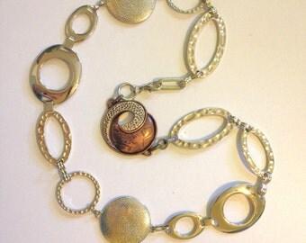 Copper Belt Silver Belt Metal Concho Belt Chain Belt Size XL Boho Hip Belt Southwestern Belt B