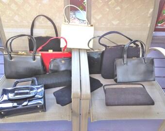 VIntage Purse LOT of 12 50s 60 Leather VInyl