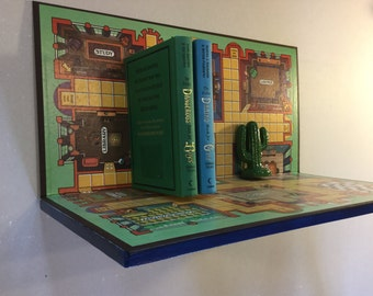 Upcycled Clue Boardgame Shelf