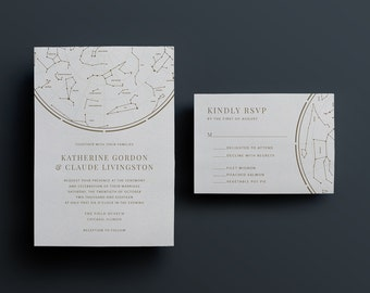 Constellation Stars Wedding Invitation - Custom DIY Printable