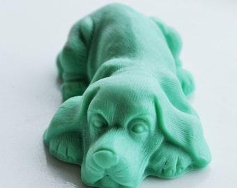 Beagle Dog Soap  - Juniper Berry Scent - Goat's Milk Soap - Dog Lover's Soap - Hound Beagle - Beagle Soap