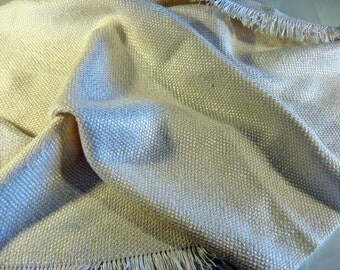 Handwoven Nubby Silk Fabric -- woven by seller, in the USA