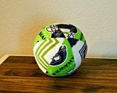 Fabric Ball - Baby Ball - Seahawks - Chevron - Seattle