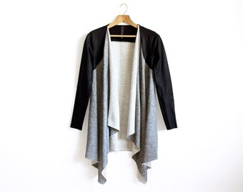 Grey Blanket Coat, Grey Blanket Cardigan, Boho Long Cardigan, Layering, Oversized Cardigan, Comfortable Womens Top, Cozy Top Long Sleeves