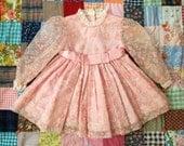 70s Floral Dress 2/3T