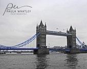 Tower Bridge London, London Photograph, London Art, England Art, UK Photo, Architecture Art, Architecture Photo, Travel art, blue black deco