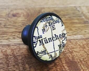 Munich Map Cabinet Knob - Custom Drawer Pull - DIY - Kitchen Remodel - Oil-Rubbed Brass - Renovation - HGTV